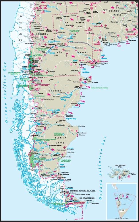 Mapa De La Patagonia Argentina
