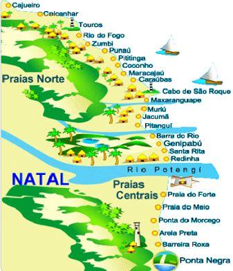 Resultado de imagen de mapa natal brasil