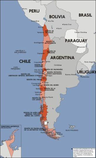 Chile también posee territorios insulares en el Océano como las ...