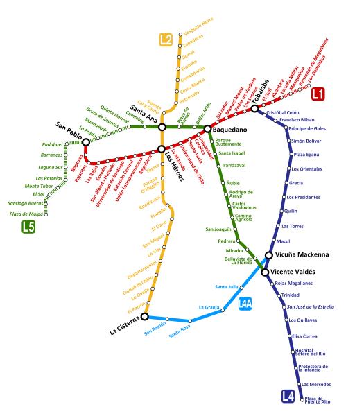 Mapas de Santiago de Chile - Planos, calles, rutas, carreteras