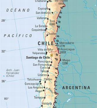 Ubicaci n geogr fica de santiago de chile d nde queda for Calles de santiago de chile