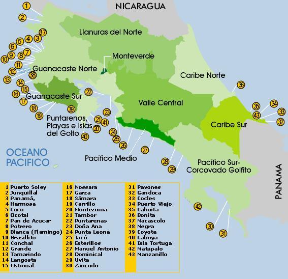 informacion pacifico central costa rica: