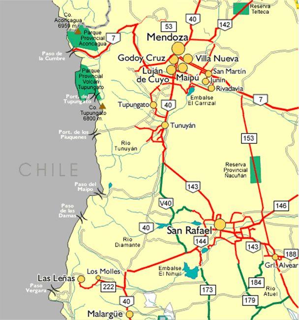 Mapa De Mendoza Argentina