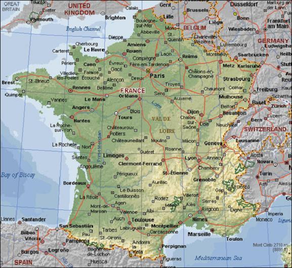 mapa de europa politico. Mapa Político de Francia