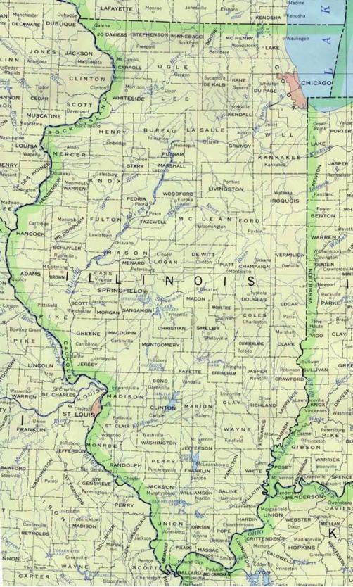 Mapas de Chicago Illinois planos calles barrios geogrficos