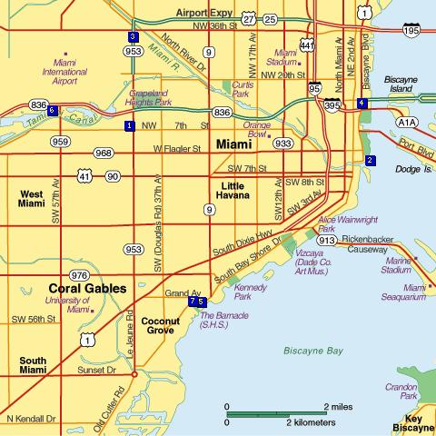 Mapas De Miami Florida Planos Y Calles De Miami Beach Fort - Mapa de florida usa