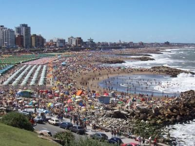 Mar del Plata, en plena temporada