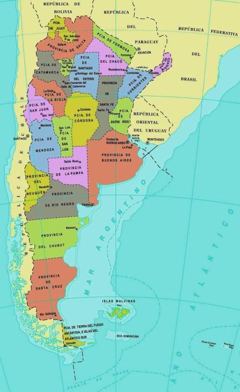Mapa Político De Argentina ThingLink - Argentina map tierra del fuego