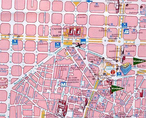 mapas de barcelona - espa u00f1a