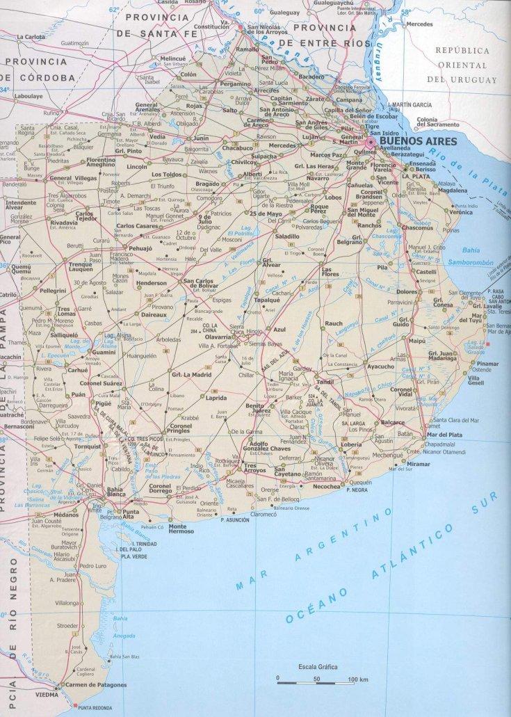 Mapa Político de Buenos Aires