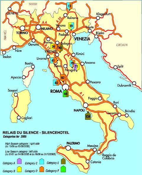 Mapas de Italia  Europa  Roma y principales ciudades