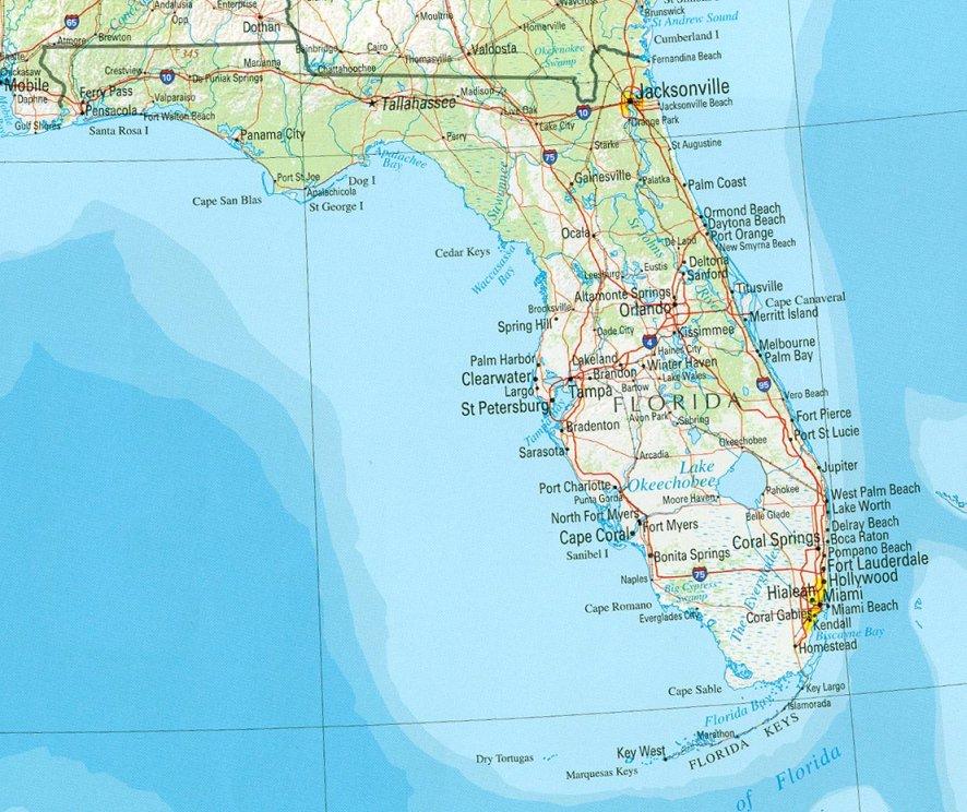 mapa de miami florida Mapas de Miami   Florida   Planos y calles de Miami Beach, Fort  mapa de miami florida