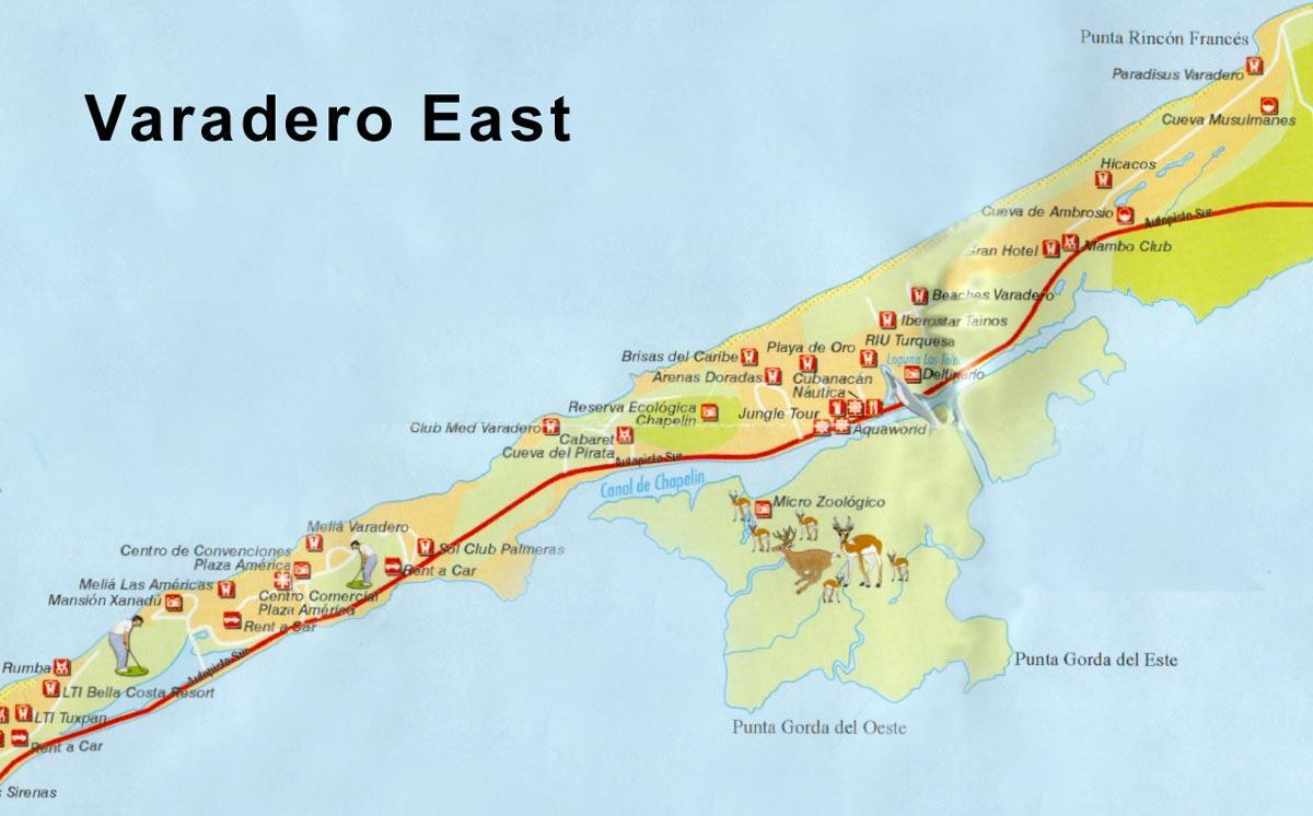 varadero mapa Mapas de Cuba, La Habana y Varadero. varadero mapa